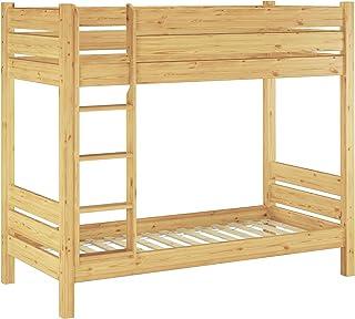 Erst-Holz Lit superposé Extra Stable pin Massif 80x190 séparable, pour Enfants et Adultes 60.16-08-190T80