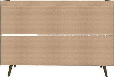 "Manhattan Comfort Bradley Mid Century Modern Dining Room 4 Shelves Buffet Stand Cabinet, 53.54"", Black"