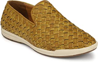 LEVANSE Casual Weaving Espadrils Moccasin Men's Shoes