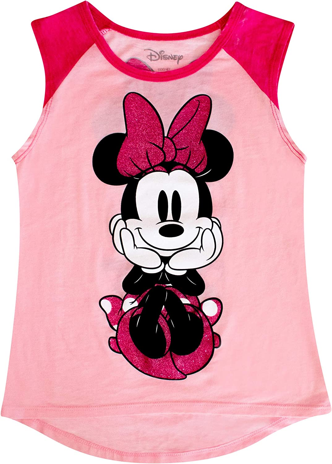Disney Minnie Mouse Shirt Youth Front Girl's Pastel Cash special price Pink Bombing new work Raglan