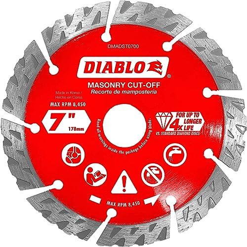 high quality Diablo DMADST0700 7 in. Diamond Segmented Cut-Off high quality sale Discs for Masonry sale