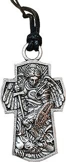 Archangel Michael St.Michael Protection Pendant Protect Me Saint Patron Shield Massive Prayer MEDA Necklace