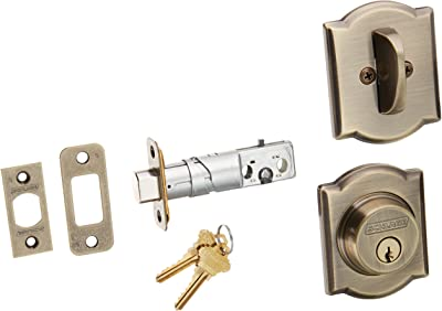 Schlage Lock Company B60CAM609 Series Deadbolt Camelot Rose Single Cylinder Deadbolt