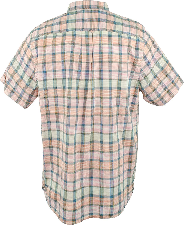 Men's Big and Tall Pico Plaid Camp Shirt