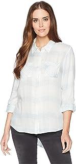 Pendleton Women's Plaid Roll Sleeve Soft Shirt Shirt