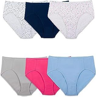 Fruit of the Loom Women's Cotton Stretch Hi Cut Panty