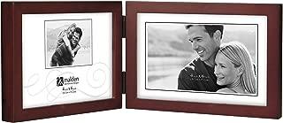 Malden International Designs Dark Walnut Concept Wood Picture Frame, Double Horizontal, 2-4x6, Walnut