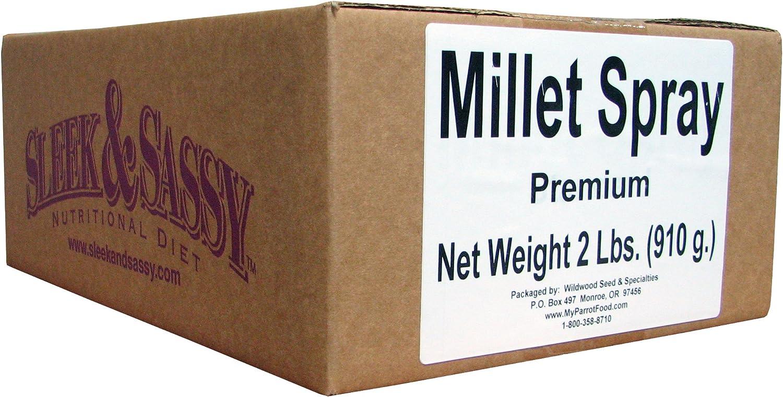 SLEEK & SASSY NUTRITIONAL DIET Golden Farms Premium Millet Spray for Birds (2 Lbs.)