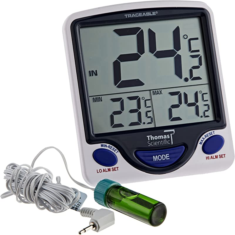 Control Traceable 4648 Jumbo Display Vaccine Thermometer With 5ml Round Bottle 50 C To 70 C 58 F To 158 F Range 0 1 Resolution