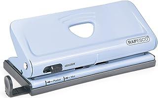 Rapesco 1323 Adjustable 6-Hole Organiser/ Diary Punch (Powder Blue)