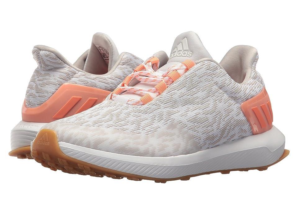 adidas Kids RapidaRun Uncaged (Little Kid/Big Kid) (White/Chalk Pearl/Chalk Coral) Girls Shoes