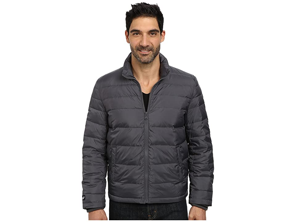 Kenneth Cole New York Zip Front Down Jacket (Silver) Men