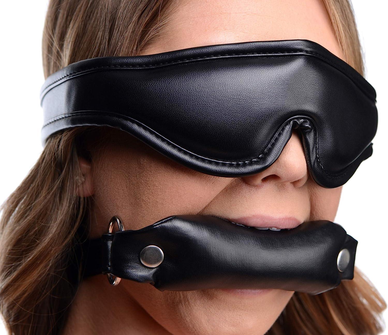 Padded Blindfold and Philadelphia Mall Gag Set Max 76% OFF