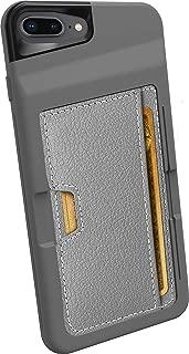 Smartish iPhone 7 Plus/8 Plus Wallet Case - Wallet Slayer Vol. 2 [Slim Protective Kickstand] Credit Card Holder for Apple iPhone 8 Plus/7 Plus (Silk) - Gunmetal Gray