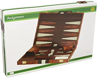"CHH 18"" Brown and White Backgammon Set"