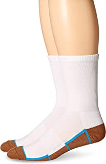 Copper Sole Men's 2 Pack Athletic Crew Socks