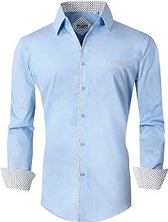 قميص كاجوال باكمام طويلة وازرار بقصة عادية للرجال من جوي سي في