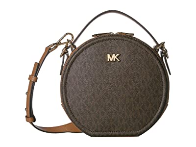 MICHAEL Michael Kors Delaney Medium Top-Handle Canteen Messenger (Brown/Acorn) Handbags