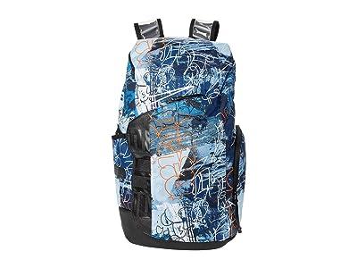 Nike Hoops Elite Pro Backpack-All Over Print (Blue/Black/White) Backpack Bags