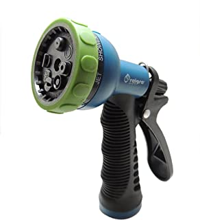 Raigro 8-Pattern Pull-Trigger Lawn and Garden Hose Spray Nozzle with Adjustable Flow