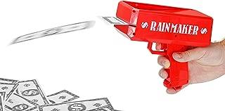 Fairly Odd Novelties Rainmaker Money Gun Make It Rain - Perfect For Bachelor Bachelorette White Elephant Birthday Parties, Red.