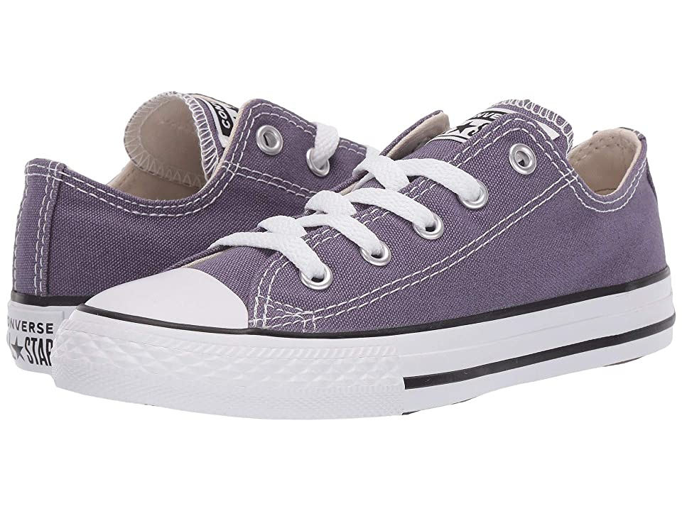 Converse Kids Chuck Taylor(r) All Star(r) Seasonal Ox (Little Kid/Big Kid) (Moody Purple/Natural Ivory/White) Girl