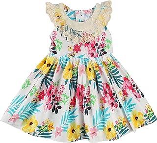 فستان بدون أكمام للفتيات من Sharequeen ، فستان للأطفال لزهرة الدانتيل مطرز قطن كشكش تصميم فساتين حفلات