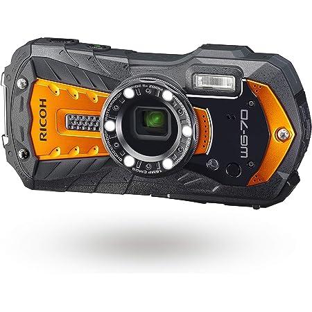 Ricoh WG-70 Orange Waterproof Digital Camera 16MP, Black