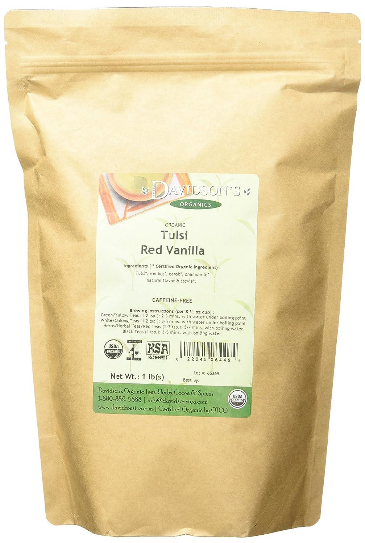 Davidson's Tea Bulk Bag, Organic Tulsi Red Vanilla, 16 Ounce