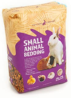 Bunny Bedding Odor Control for Small Pets - Organic Coconut Husk Fiber Substrate Animal Bedding for Guinea Pig, Ferret, Hamster Cages and Habitats - Pet Accessories - 20 Liters Critter Litter
