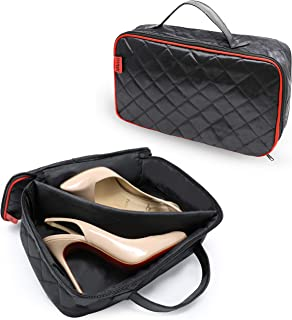 JekLoui High Heel Shoe Organizer Travel Case – Premium Quilted Portable Shoe Protective Storage Bag with Soft Padded Outer Layer