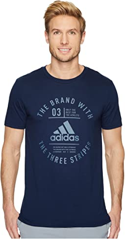 adidas - Three Stripe Life Emblem Tee