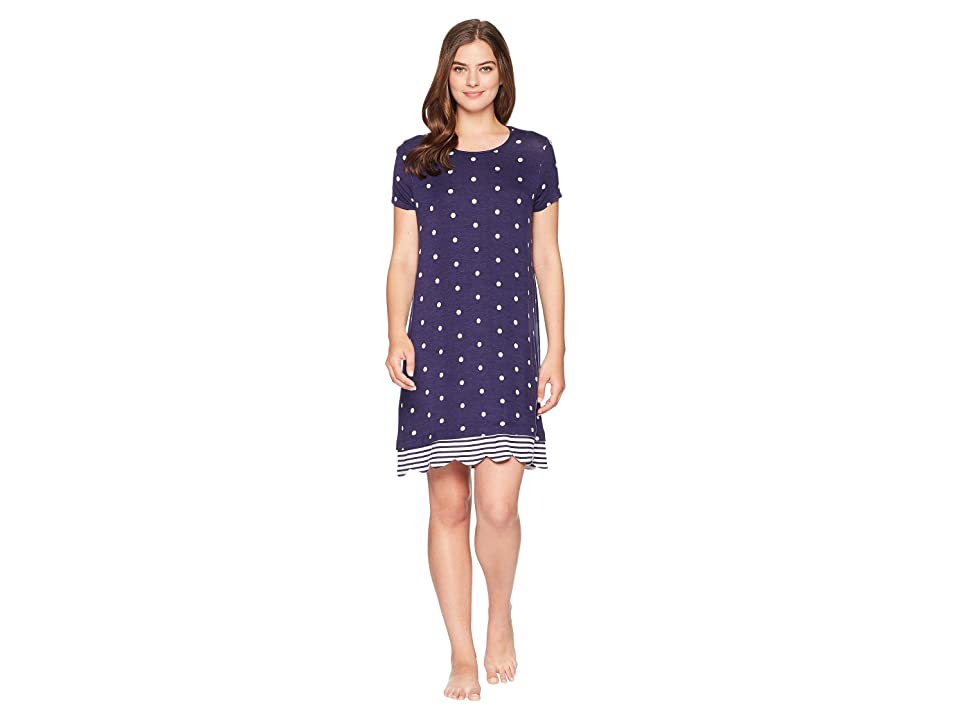 Jockey Short Sleeve Sleepshirt (Dot & Stripe) Women