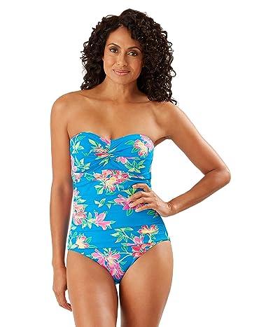 Tommy Bahama Sun Lilies Twist Bandeau One-Piece