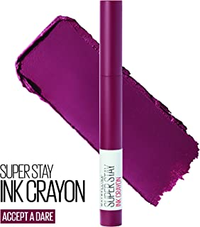 Maybelline SuperStay Ink Crayon Lipstick, Matte Longwear Lipstick Makeup, Accept A Dare