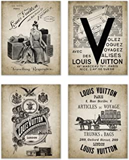 Louis Vuitton Photos - Set of 4 (8 inches x 10 inches) Fashion Poster Prints