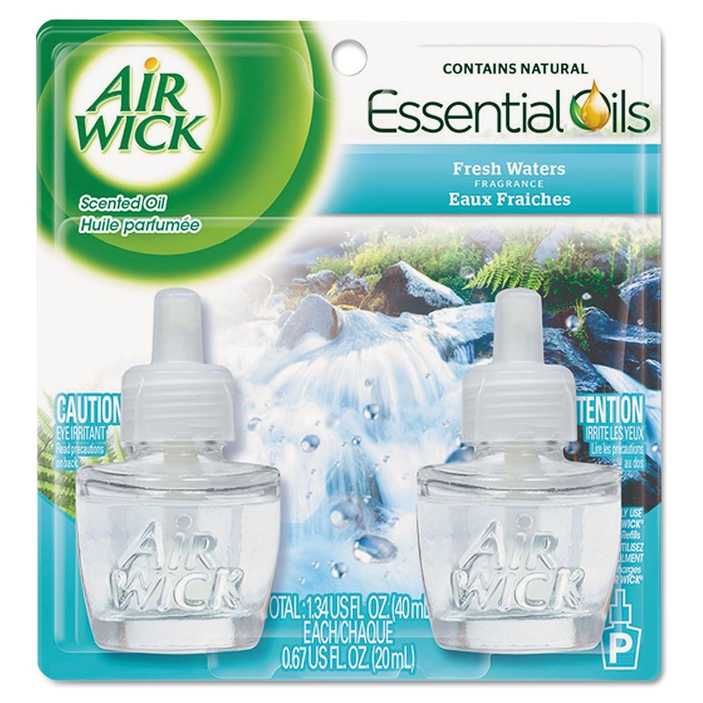 ステレオ石の残忍なReckitt Benckiser Professional 79717?CT Scented Oil Refill , Fresh Waters、.67oz、2?/ Pack