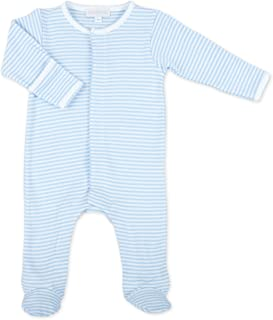 Baby Boy Stripes Essentials Embroidered Footie Blue