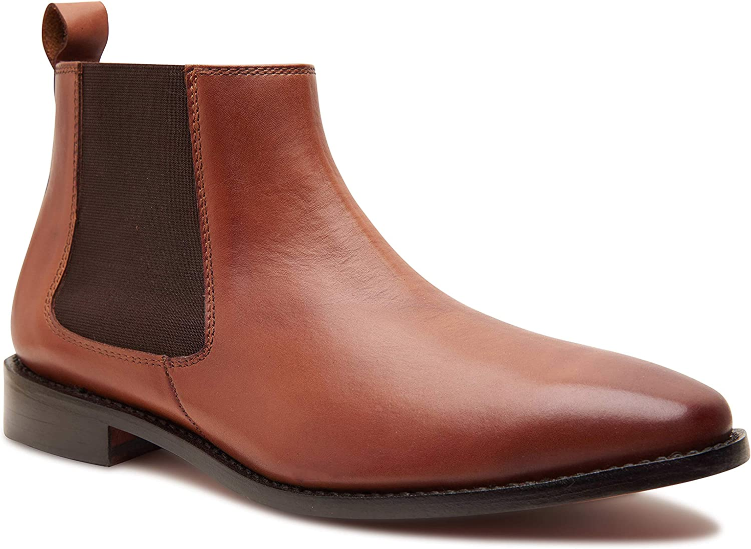 Allonsi Genuine Leather Chelsea Boots Welte Nashville-Davidson Mall Inexpensive Goodyear for Men