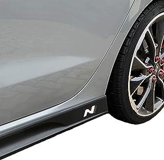 PrintAttack P042 | Emblem N Performance Seitenschweller 2er Set Aufkleber Folie | 751 Oracal/3M Carbon | Car Styling | Dekorset (Weiss/Carbon/Rot)
