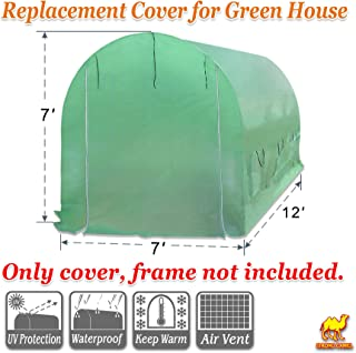 STRONG CAMEL Hot Green House Cover for 12' X 7' X 7' Larger Walk In Outdoor Plant Gardening Greenhouse (FRAME DOES NOT INCLUDED))