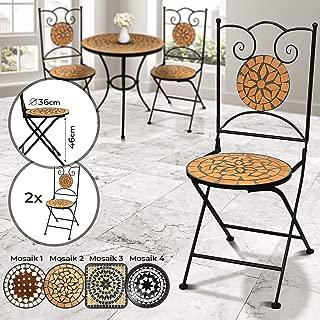 Mosaico sedia da giardino sedia pieghevole sedia Bistrot sedia balcone sedia mosaico fatto a mano