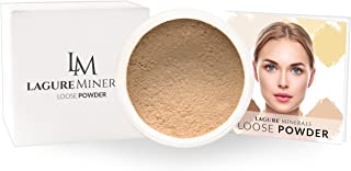 Lagure 6-Color Setting Powder (03 Azure) - Best Loose Powder Foundation with Premium Face Powder - Perfect for Light to Medium with Yellow Undertone - Step-by-Step Setting Powder Guide Included