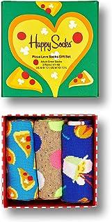 Happy Socks Men's Pizza Love 3-Pack Gift Set Socks, Multi, 41-46