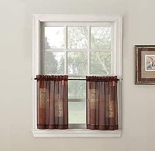 No. 918 Eden Inspirational Kitchen Curtain Tier Pair, 56