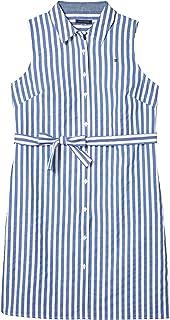 Simple Cotton Stripe Shirt Dress