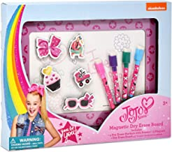 Jojo Siwa Magnetic Dry Erase White Board, Magnets and Markers for Kids Coloring Activity Toy
