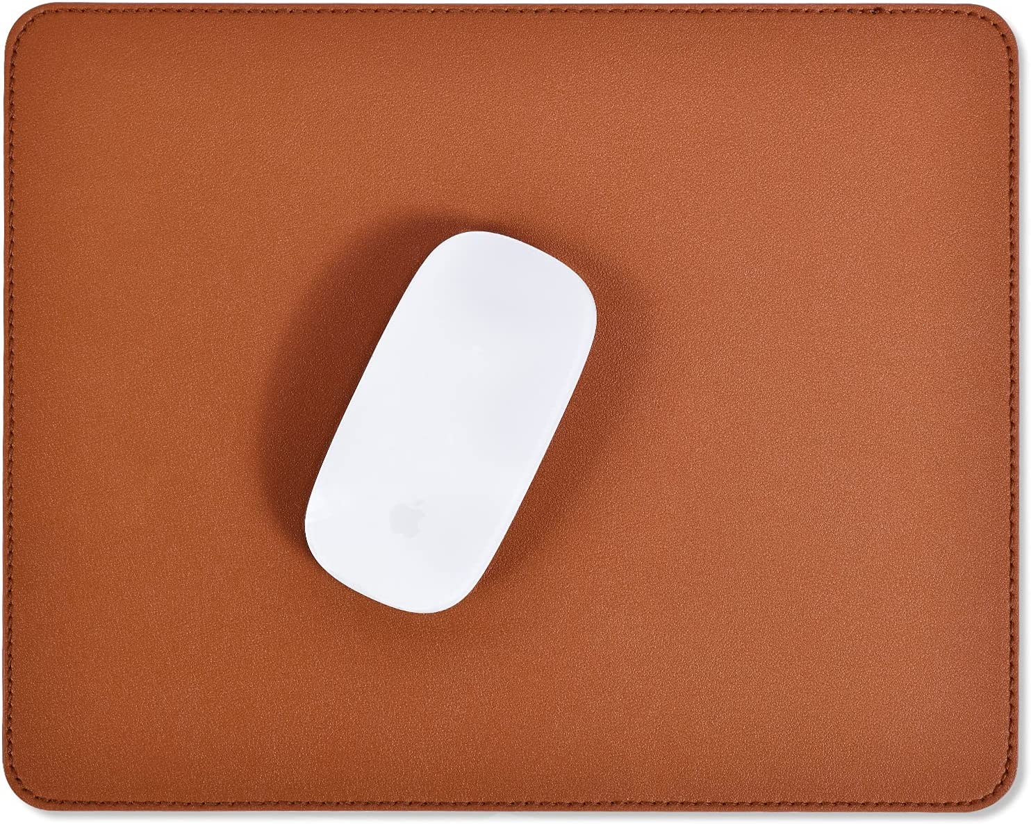 Rectangle Mouse Pad Brown Leather Max Max 52% OFF 81% OFF Rubb Anti-Slip with