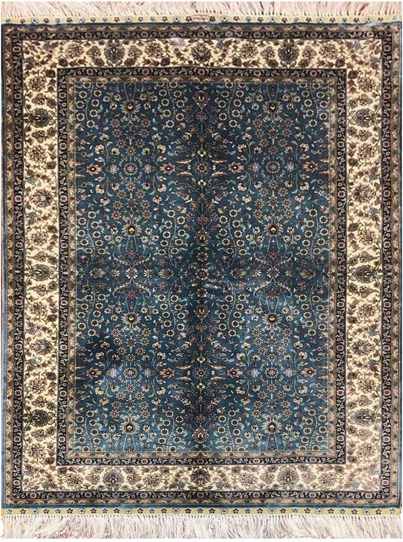 Turkish Prayer High quality Rugs Save money Hand Weave Green 3x4.5 Size Floral Rug Floor