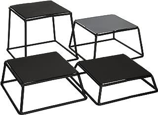 Tablecraft BKR4 Non-Slip Riser Set (Set of 4), Black, Gray